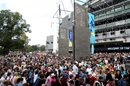 The scene outside the MCG before the gates opened, Australia v India, Women's T20 World Cup, final, Melbourne, March 8, 2020