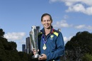 Meg Lanning poses with the T20 World Cup trophy at the Royal Botanical Gardens, Melbourne, March 9, 2020