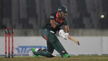 Soumya Sarkar gives it a good whack