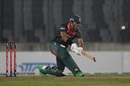 Soumya Sarkar gives it a good whack, Bangladesh v Zimbabwe, 1st T20I, Dhaka, March 9, 2020