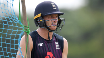 Jos Buttler looks on in England training