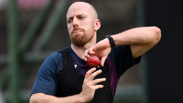 Jack Leach bowls in the nets