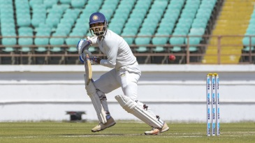 Arpit Vasavada guides the ball fine