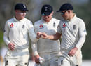 Olly Pope, Dom Bess and Sam Curran practise the 'fist bump' instead of handshakes SLC XI v England, Katunayake, March 08, 2020