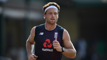 Jos Buttler jogs in training