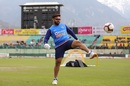 Rishabh Pant showed off his football skills before the match, India v South Africa, 1st ODI, Dharamsala, March 12, 2020