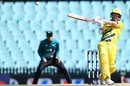 David Warner clubs one through the on side, Australia v New Zealand, 1st ODI, Sydney, March 13, 2020