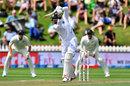 Mohammad Shami drives, New Zealand v India, 1st Test, Wellington, 2nd day, February 22, 2020
