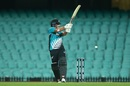 Colin de Grandhomme swings one away towards fine leg, Australia v New Zealand, 1st ODI, Sydney, March 13, 2020