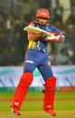 Babar Azam taps one on the off side, Karachi Kings v Lahore Qalandars, PSL 2020, Karachi, March 12, 2020