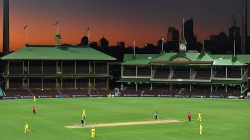 Silence of the stands: Australia and New Zealand played to an empty SCG in the first ODI before the series was called off
