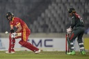 Craig Ervine attempts a reverse sweep, Bangladesh v Zimbabwe, 2nd T20I, Dhaka, March 11, 2020