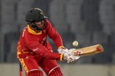 Brendan Taylor sends the ball fine, Bangladesh v Zimbabwe, 2nd T20I, Dhaka, March 11, 2020