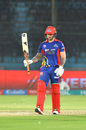 Cameron Delport raises his bat, Karachi Kings v Quetta Gladiators, PSL 2020, Karachi, March 15, 2020
