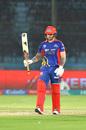Cameron Delport raises his bat, Karachi Kings v Quetta Gladiators, PSL 2020, Karachi, March 15, 2020