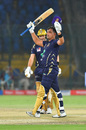Khurram Manzoor celebrates as Shane Watson looks on, Karachi Kings v Quetta Gladiators, PSL 2020, Karachi, March 15, 2020