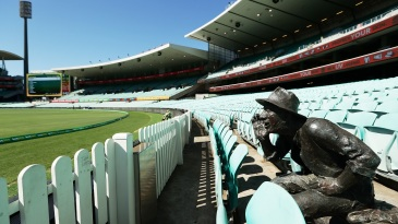 Yabba the barracker was the only spectator at the first ODI between Australia and New Zealand at the SCG