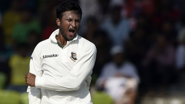 In Khulna against Zimbabwe in 2014-15, Shakib achieved the very rare feat of making a century and taking ten wickets in a Test