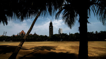 A deserted Oval Maidan during the Indian government's lockdown to stop the spread of coronavirus in the country