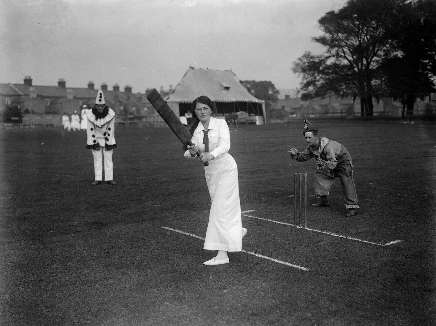 Ladies v Soldiers cricket match