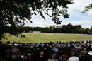 A general view of the Championship match at Queen's Park, Chesterfield, Derbyshire v Durham, Specsavers Championship Division Two, Chesterfield, July 3, 2017