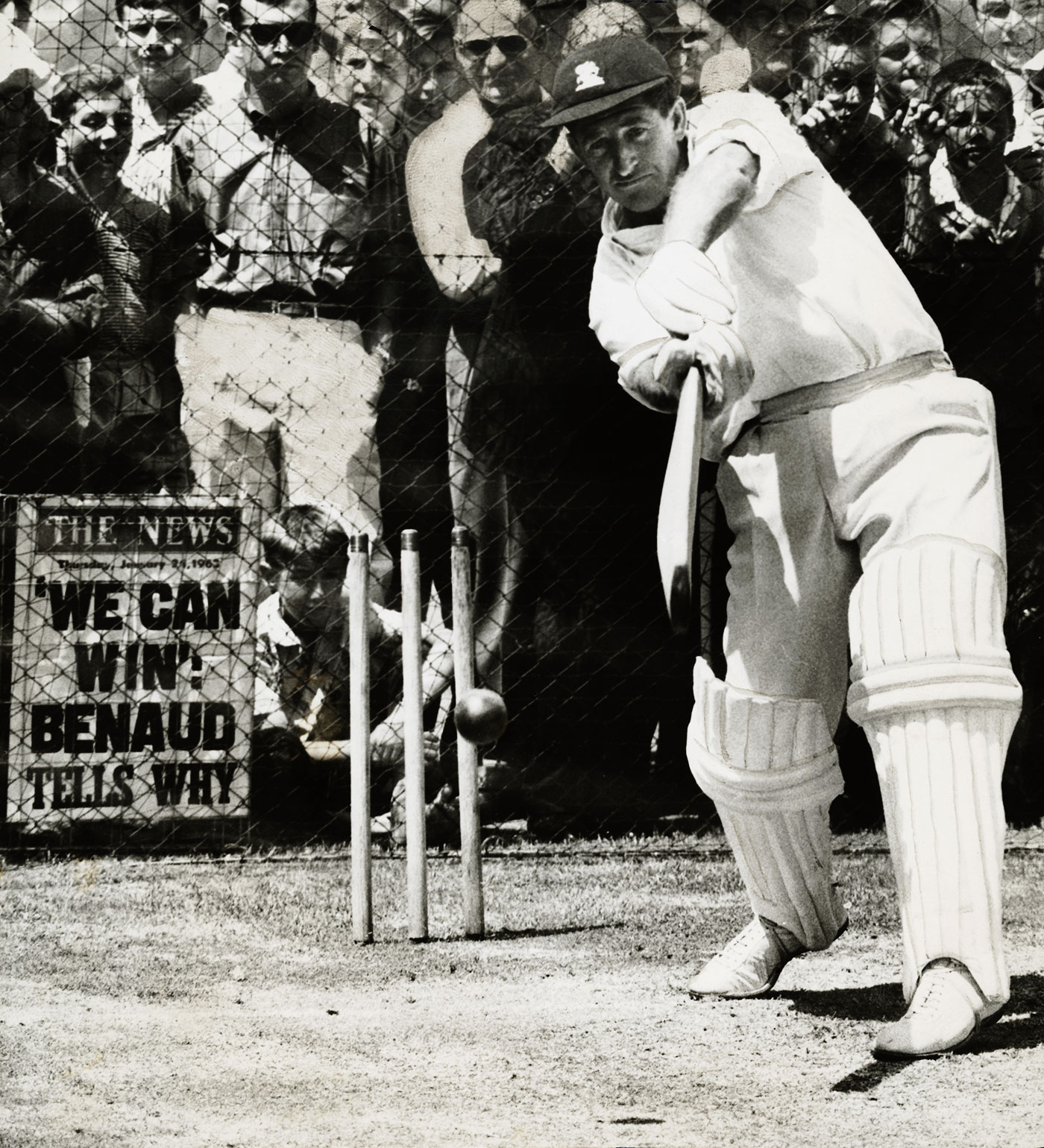 Barrington bats in the nets in Adelaide, 1962-63