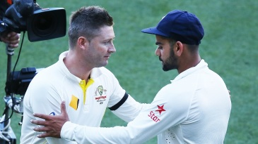 Michael Clarke feels sledging doesn't have an effect on players like Virat Kohli