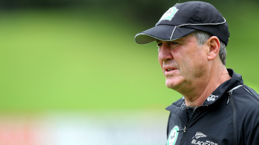 John Wright during his tenure as New Zealand coach