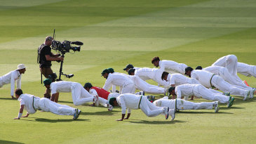 Pakistan's players will be required to complete, among other things, 60 push-ups in a minute