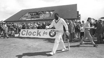 Imperial march: Viv Richards walking out to bat was quite the event
