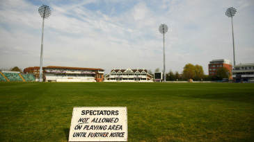 A sign at Taunton warns fans to stay away