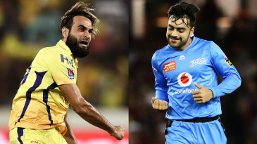Composite: Imran Tahir and Rashid Khan