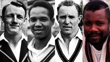 Composite: Don Bradman, Garry Sobers, Ray Lindwall and Malcolm Marshall