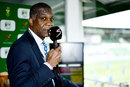 Michael Holding on commentary duty, South Africa v England, 3rd Test, Port Elizabeth, 5th day, January 20, 2020
