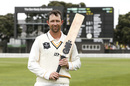 Devon Conway poses after his triple-century, Wellington v Cantebury, Plunket Shield, October 30, 2019