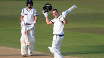Gary Ballance celebrates one of his five Championship hundreds in 2019