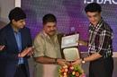 Ashok Malhotra is felicitated by BCCI President Sourav Ganguly, Kolkata