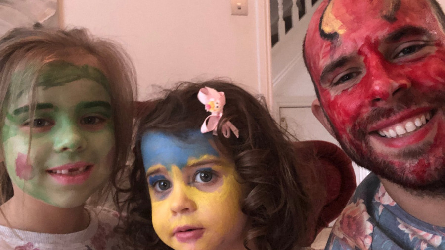 Face-painting is where it's at for the Coetzer family