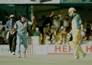 Zaheer Khan celebrates the wicket of Steve Waugh, India v Australia, ICC Knockout 2000