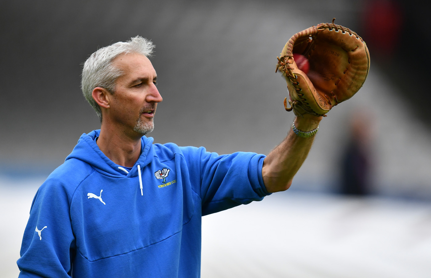 Leather rebel: Jason Gillespie is a staunch vegan, so much so that he has kept mending his leather catching mitt for six years to avoid buying another one