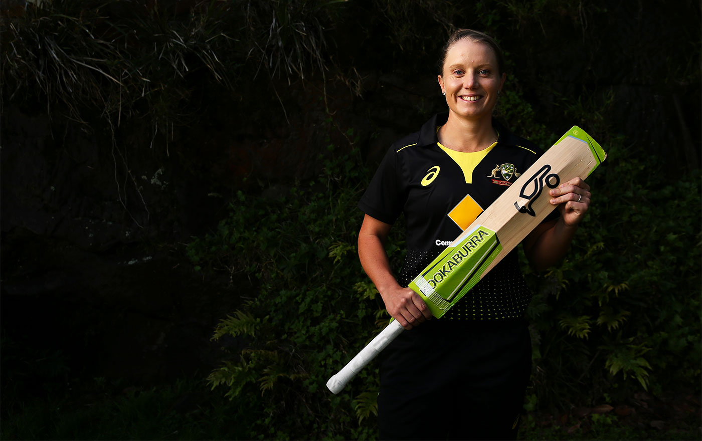 Alyssa Healy poses for a portrait during Australia women's squad announcement