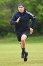 Tom Banton runs during action training, Barnt Green, May 15, 2020