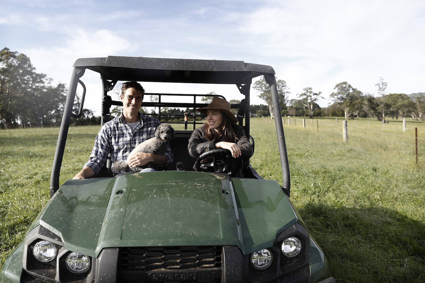 Norman has the run of Pat Cummins' massive Southern Highlands estate south-west of Sydney, though he would rather take the farm buggy, thank you very much