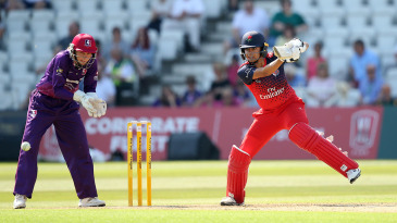 Sophia Dunkley bats during the Kia Super League in 2019