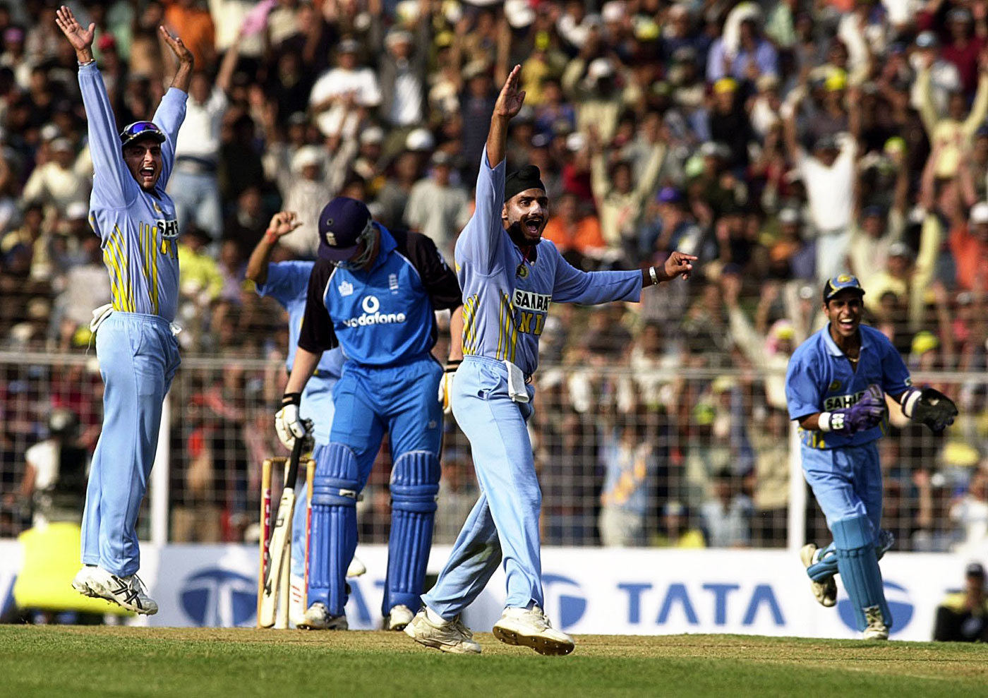 Bowling against England at the Wankhede in 2002.