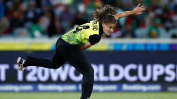 Annabel Sutherland in action during the T20 World Cup