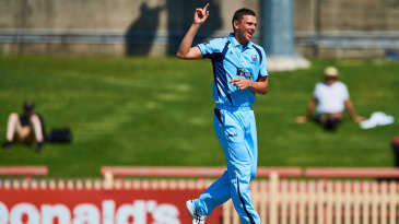 Josh Hazlewood during a one-day outing for New South Wales
