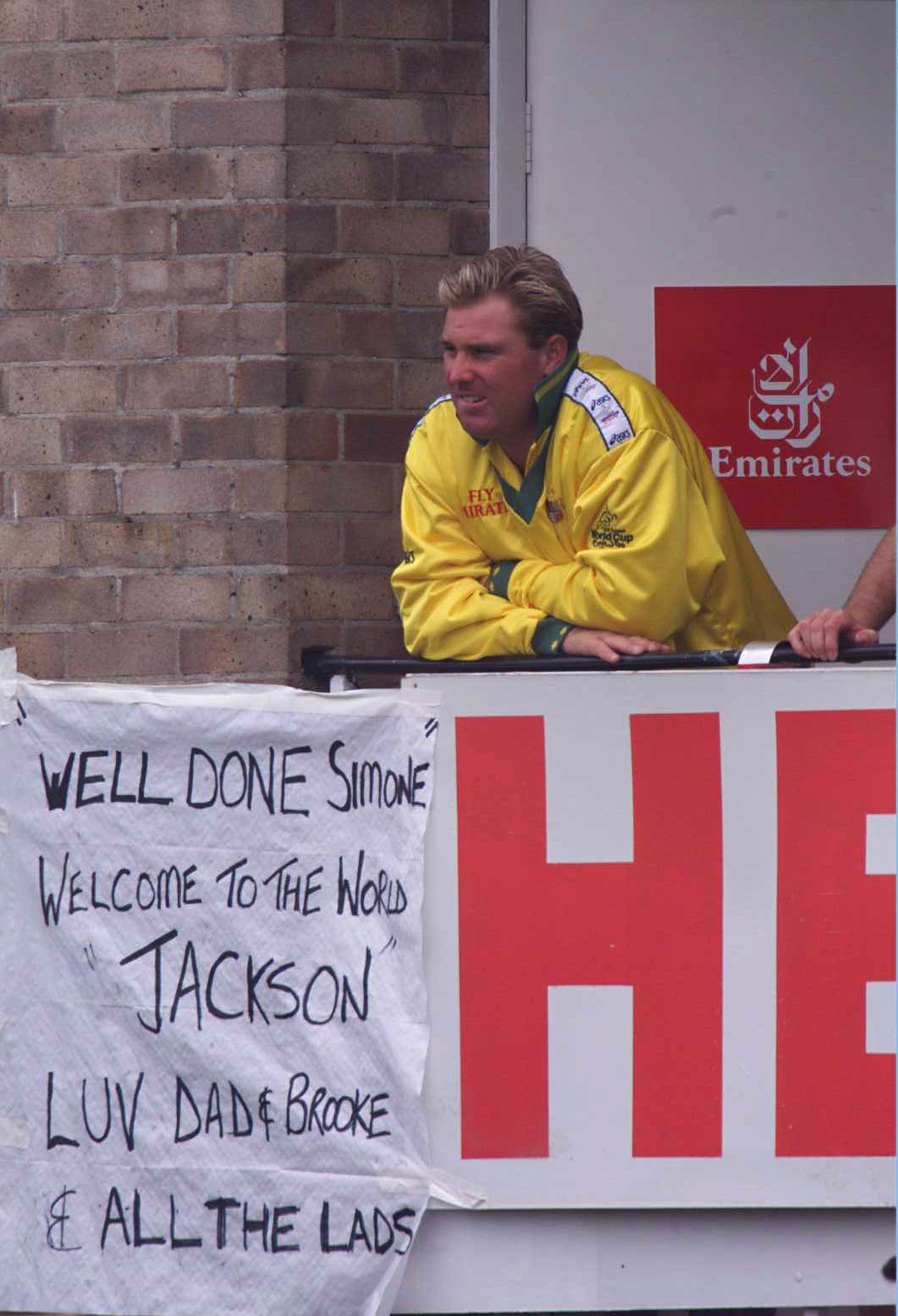 Here comes the son: Shane Warne knows how to make an announcement