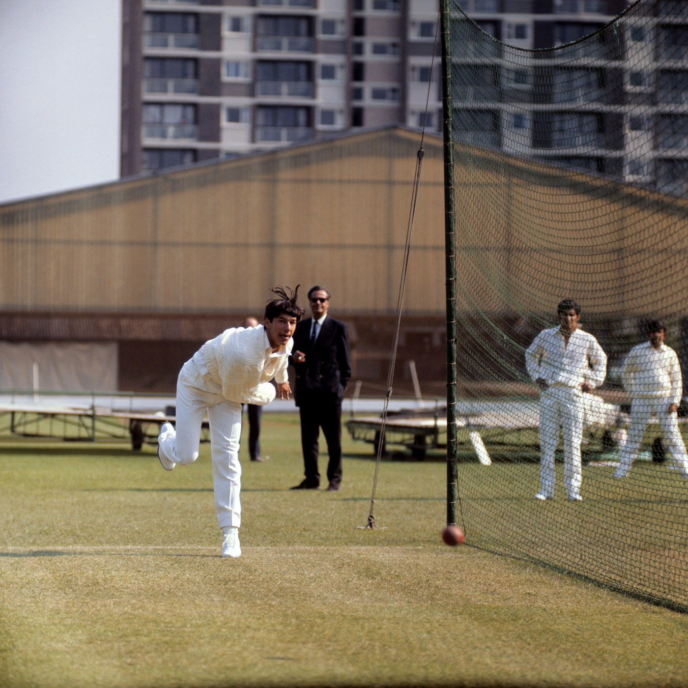 Early days: in the Lord's nets during the 1971 Pakistan tour of England