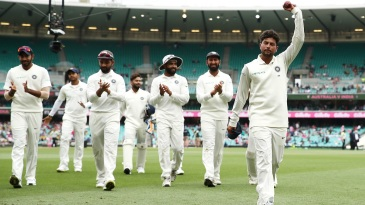 Left-arm wristspinner Kuldeep Yadav took 5 for 99 in Sydney in the 2018-19 Test series in Australia